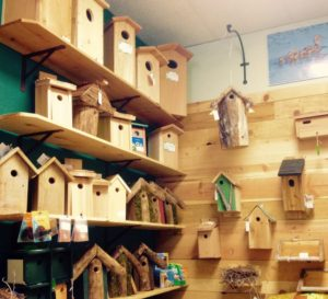 Wide selection of nest boxes, sized from wrens and chickadees to barn owls and ducks